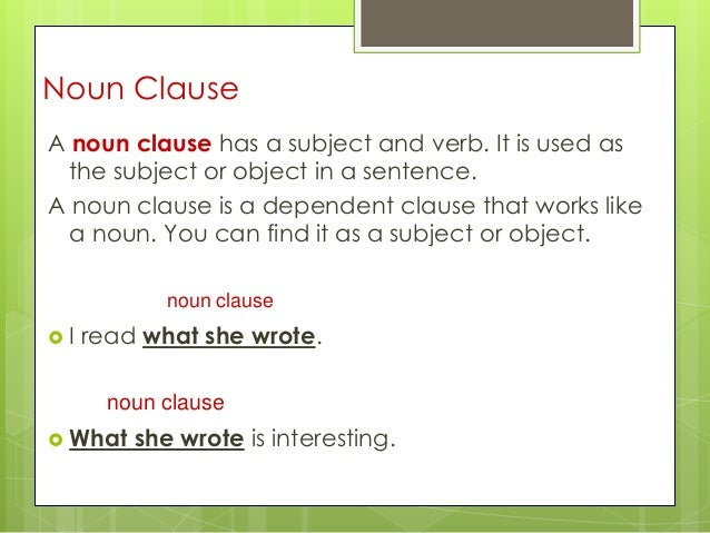 what is a clause example
