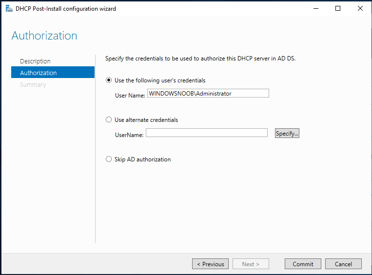 example of powershell script install ad dns dhcp