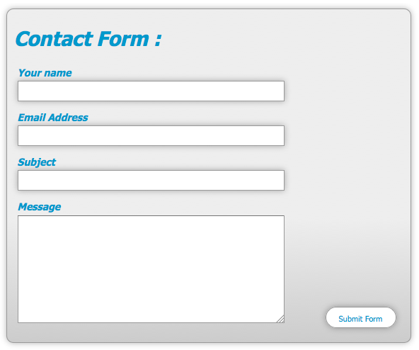 form design in html with css example