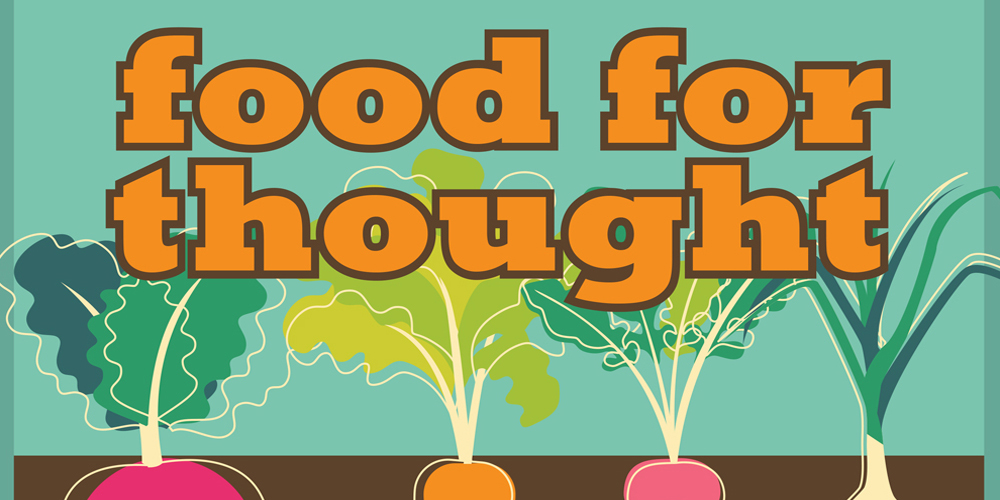 food for thought meaning and example