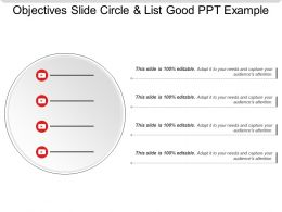 example list of quality objectives