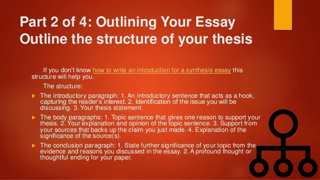 writing a synthesis essay example