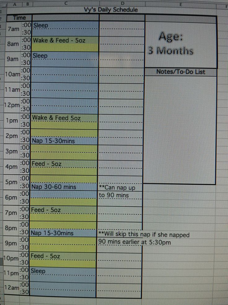 2 month old sleep schedule example