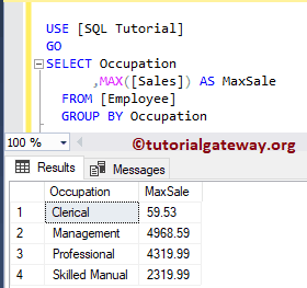 default value for a column in sql example