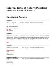 modified internal rate of return example