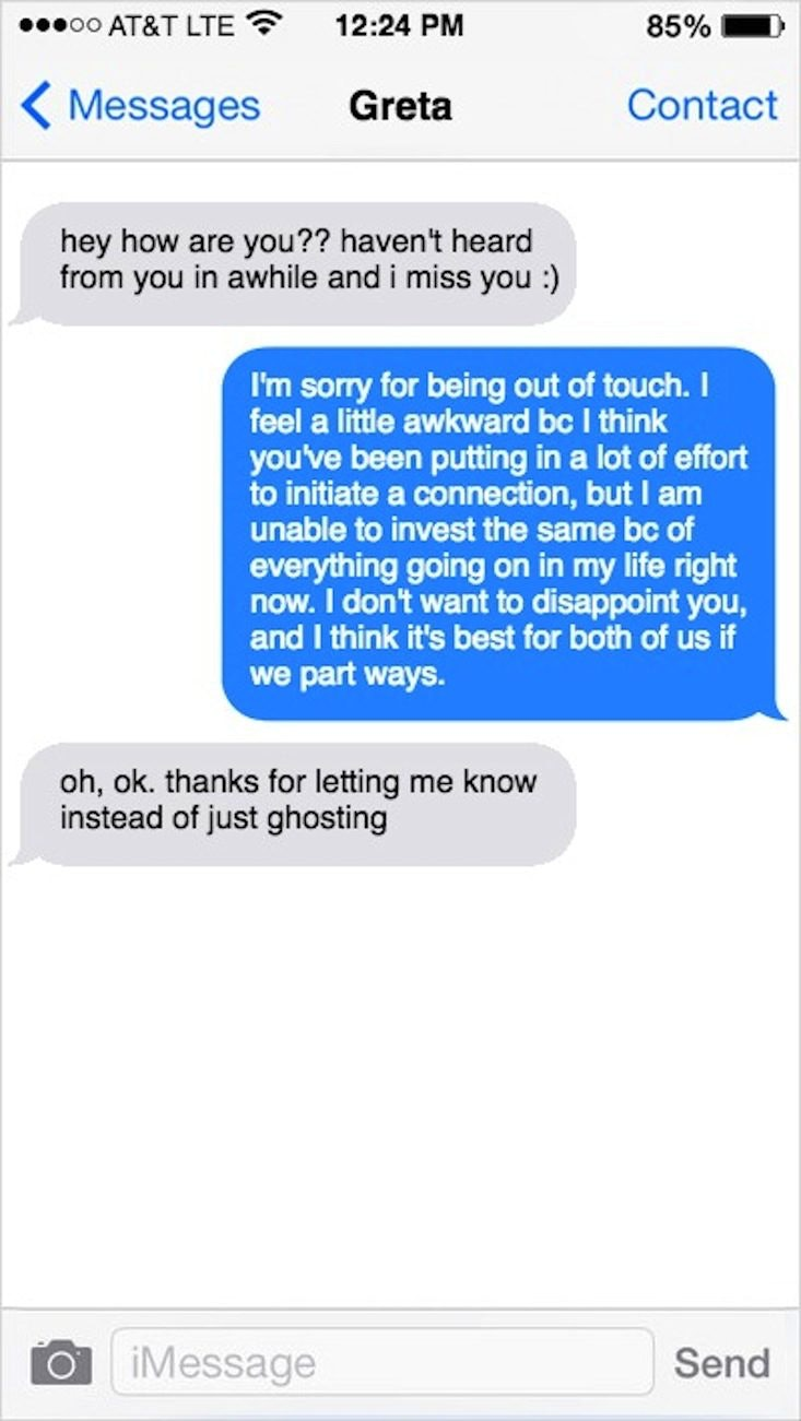 how to reject a guy nicely over text example