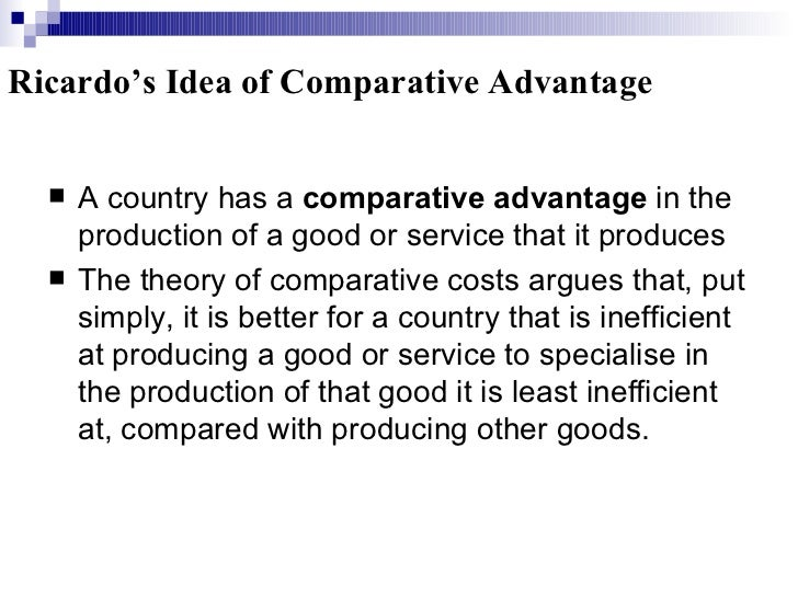 which is an example of comparative advantage quizlet