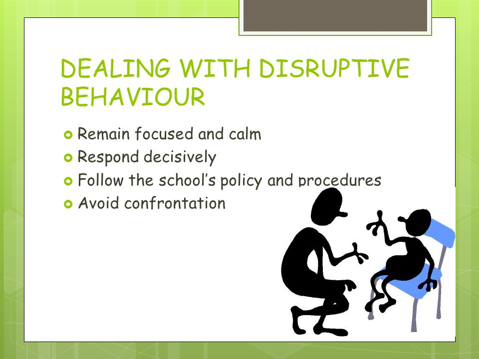 example of disruptive behaviour in the classroom