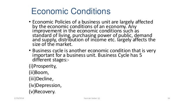 example of prosperity in business cycle