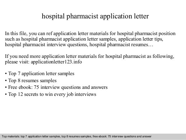 example cover letter for unadvertised job application pharmacist