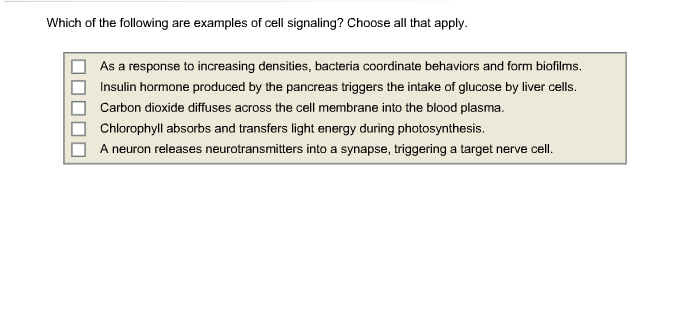 which of the following is an example of paracrine signaling