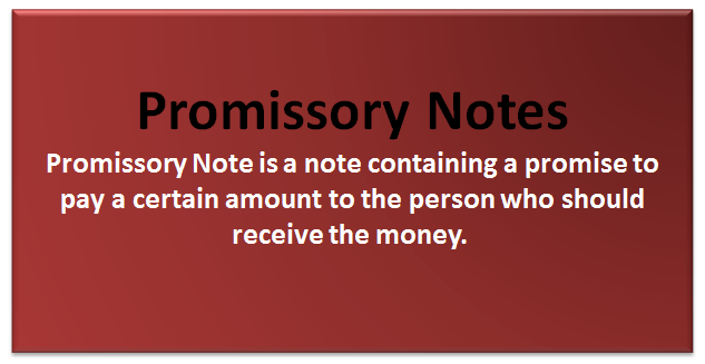 define promissory note with example