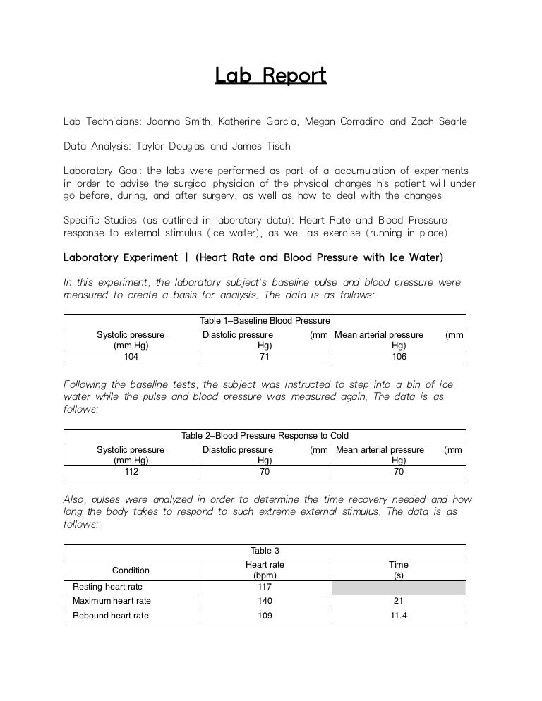 example introduction for a lab report