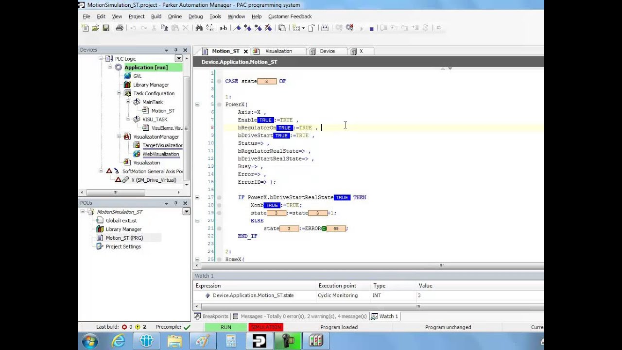 siemens tia scl motion example