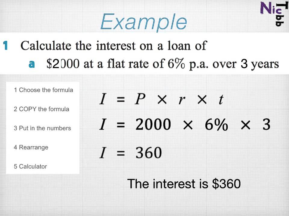 simple interest formula example problems